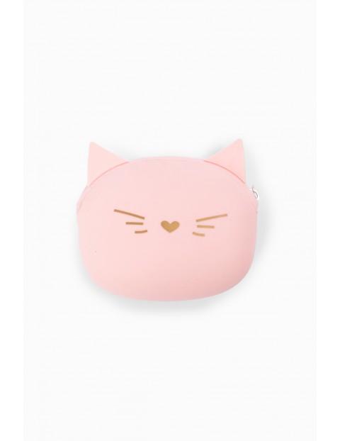 Portfel dziewczęcy silikonowy w kształcie kotka
