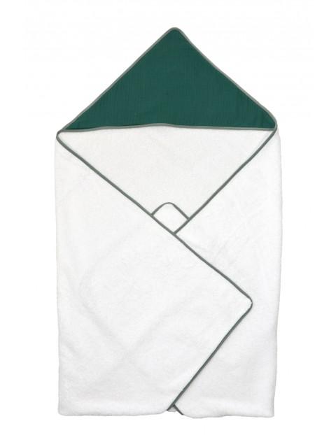 Okrycie kąpielowe dla dziecka 75x75cm - biało-zielone