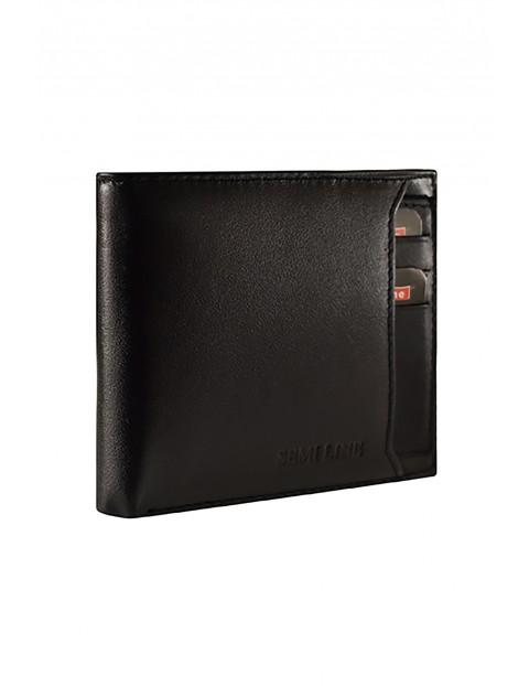 Portfel męski skórzany z opcją RFID czarny