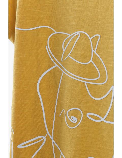 T-shirt chłopięcy z nosorożcem- 100% bawełna