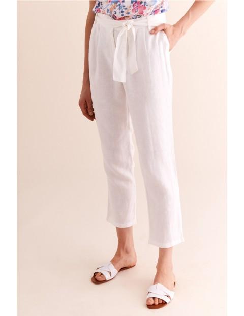 Lniane spodnie damskie