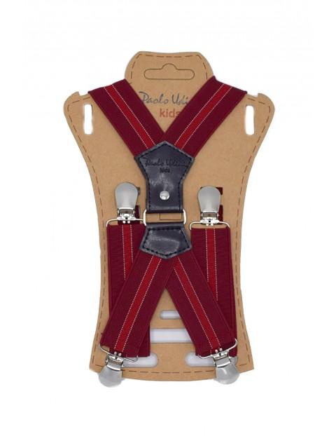 Szelki chłopięce do spodni 60 cm - czerwone