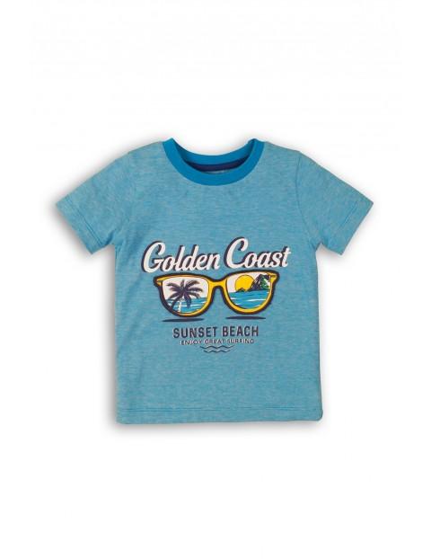 T-shirt niemowlęcy bawełniany z nadrukiem