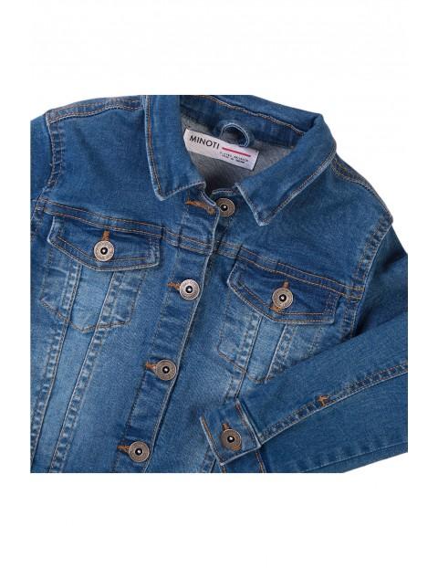 Kurtka dziewczęca jeansowa - niebieska