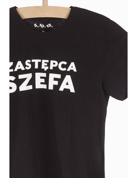 T-shirt męski czarny- Zastępca szefa