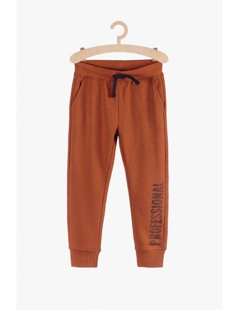 Spodnie dresowe- brązowe