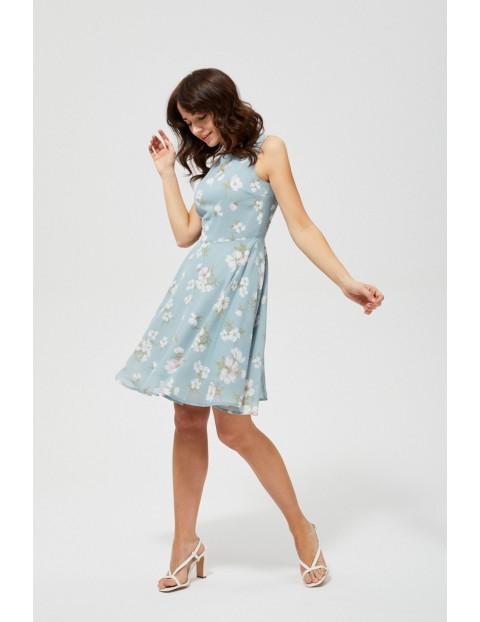 Sukienka damska bez rękawów w kwiaty