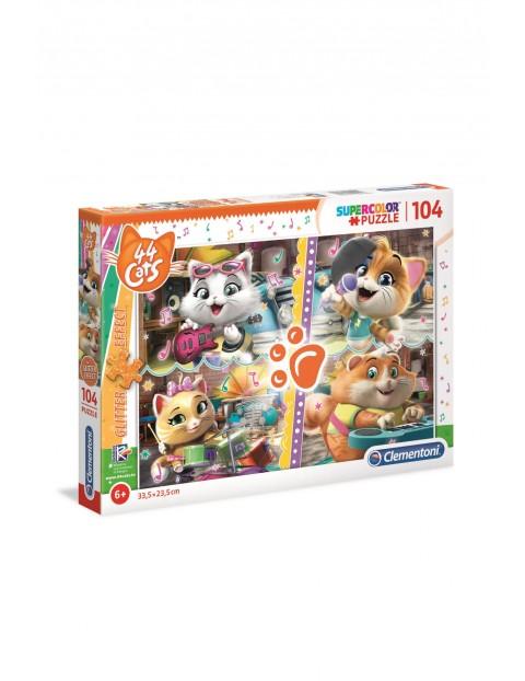 Puzzle  - Bajka 44 Cats Brokat - 104 el wiek 6+