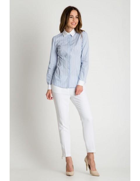 Elegancka koszula damska w białe paski