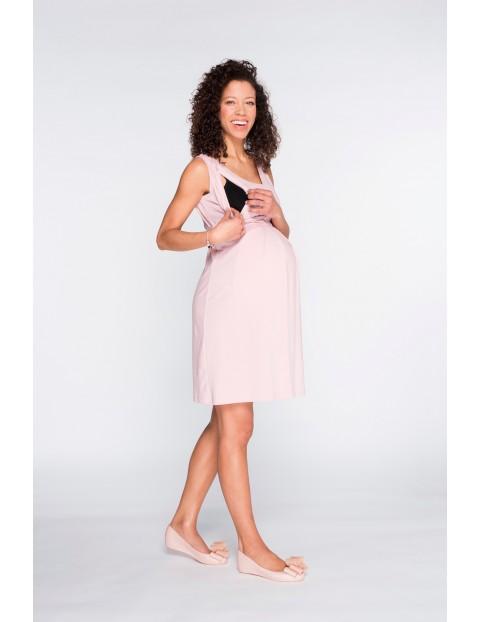 Sukienka ciążowa na ramiączka Classic pudrowy róż