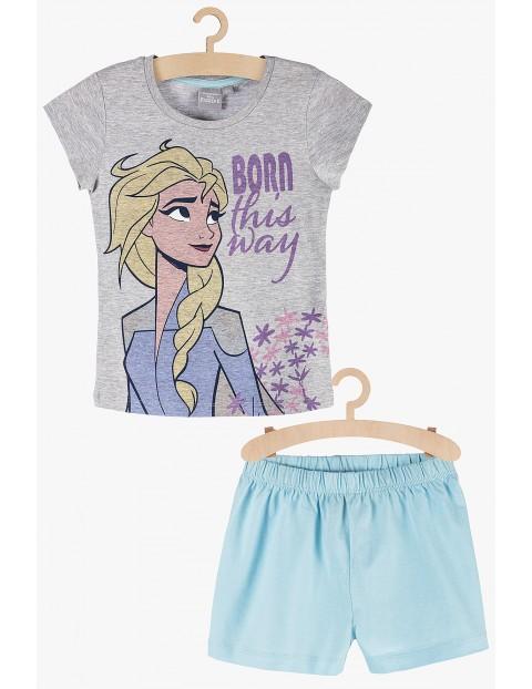 Pidżama dziewczęca szaro-niebieska Frozen 2