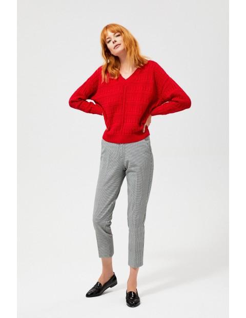Sweter damski typu oversize- czerwony