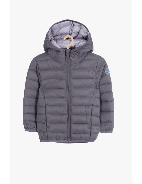 Pikowana kurtka dla niemowlaka- szara