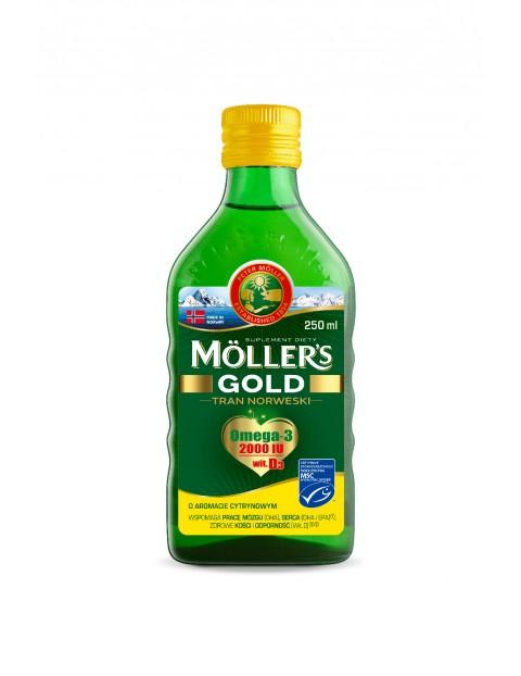 Möller's Tran Norweski Gold aromat cytrynowy 250 ml