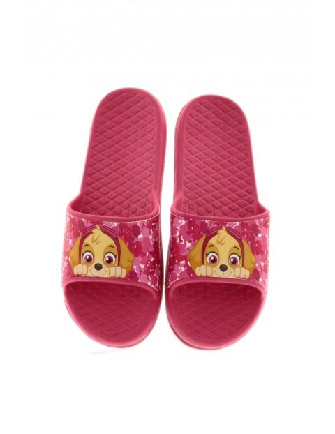 Klapki dziewczęce w kolorze różowym - Psi Patrol