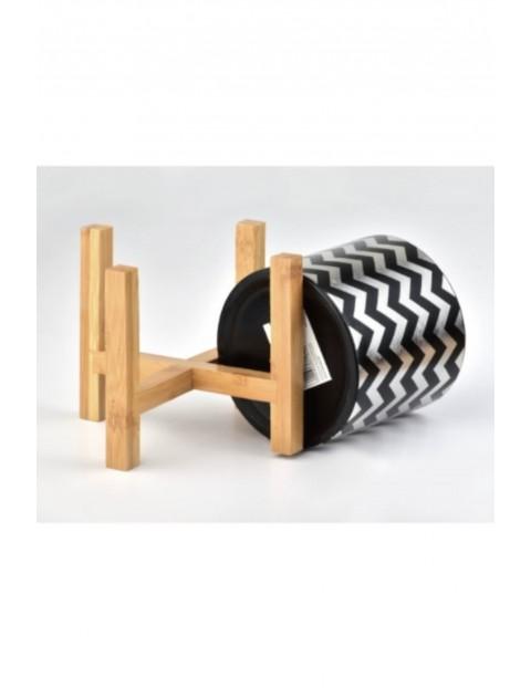 AVA Doniczka na drewnianym stojaku