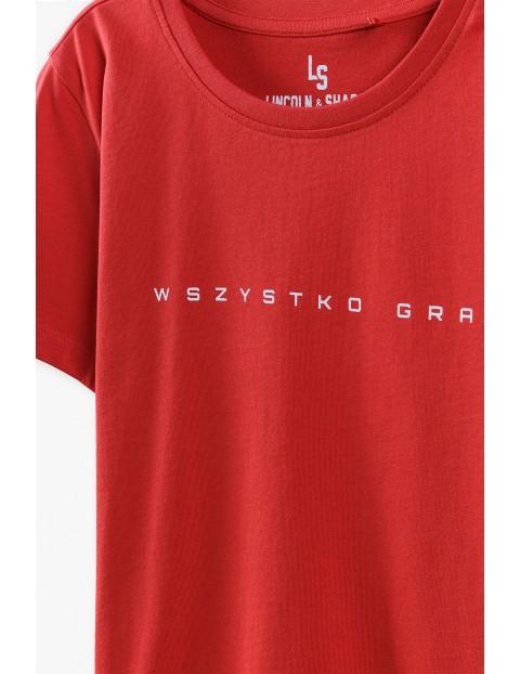 T-shirt chłopięcy czerwony- Wszystko Gra
