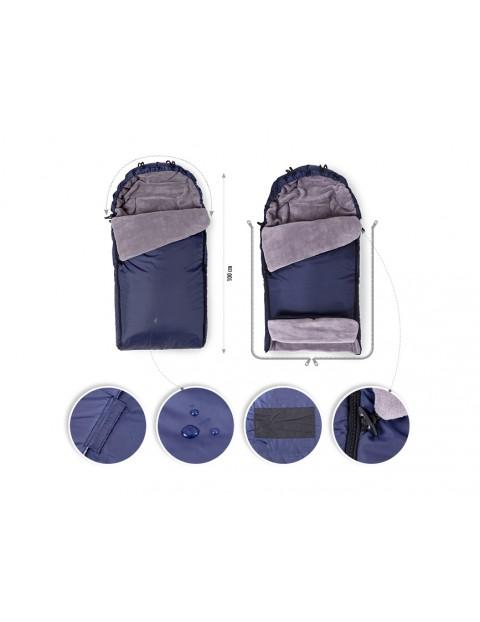 Zimowy śpiworek ocieplany do wózka
