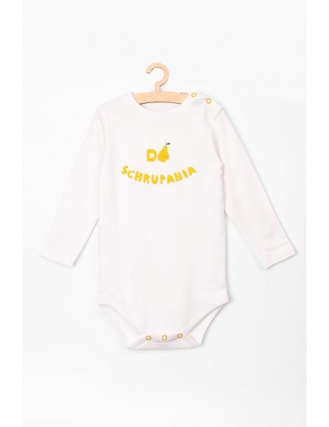 Body niemowlęce bawełniane z napisem -Do schrupania