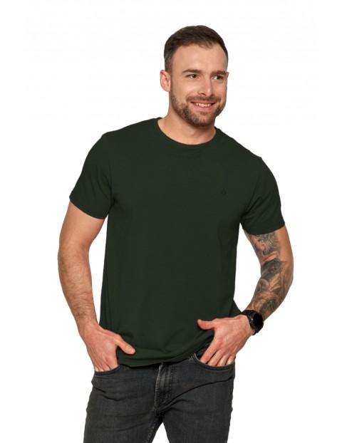 Klasyczny T-shirt męski gładki - zielony