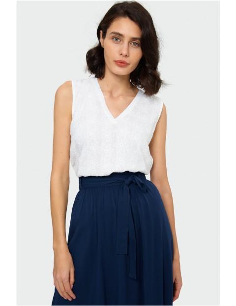 Bluzka damska z krótkim rękawem- biała