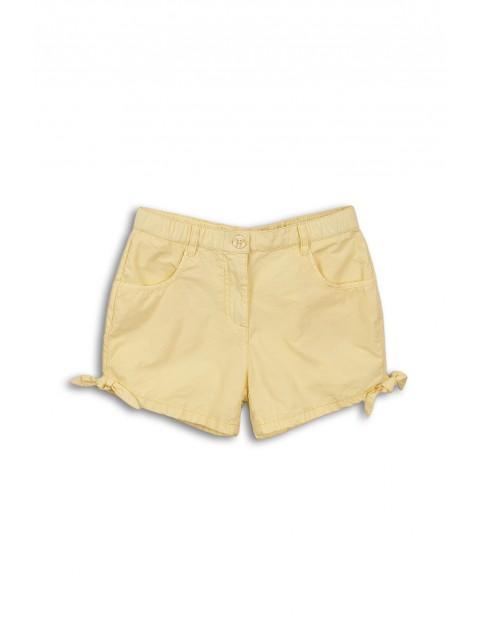 Szorty bawełniane dziewczęce żółte