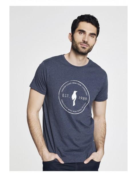 T-shirt męski granatowy OCHNIK