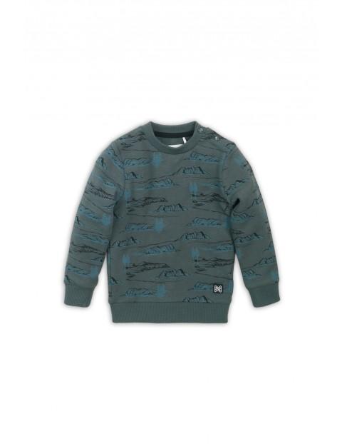 Bluza dresowa chłopięca zielona