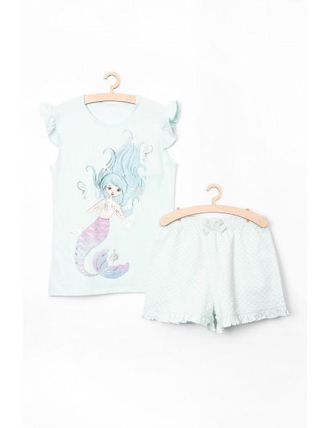 Pidżama dziewczęca niebieska z syrenką