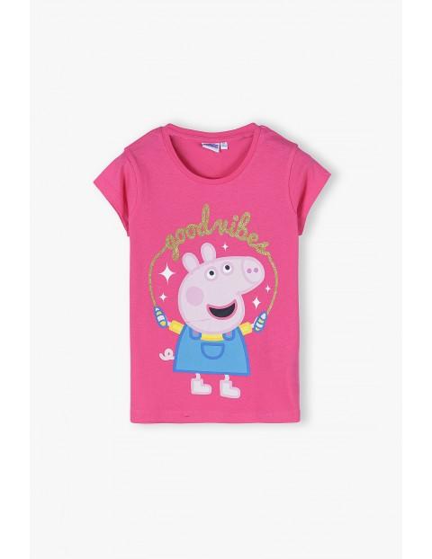 T-shirt dziewczęcy Świnka Peppa- różowy