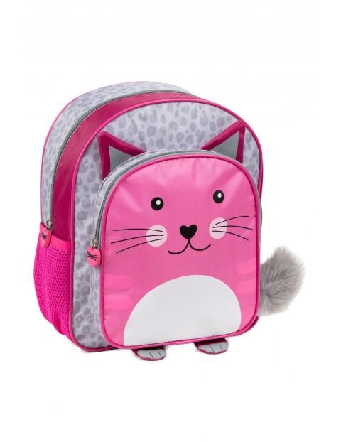 Plecak wycieczkowy Kot- różowy