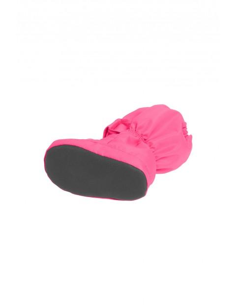 TermoButy dziecięce ocieplane - różowe z odblaskami