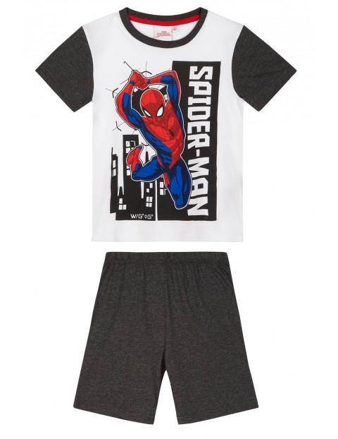 Piżama chłopięca Spiderman- szara rozm 140