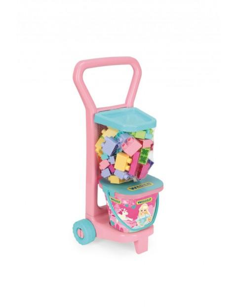 Wózek z Klockami Różowy 3Y36DD
