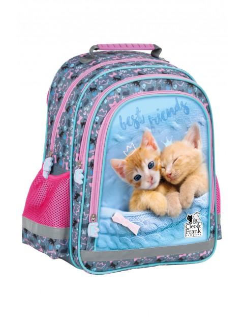 Plecak szkolny niebiesko-różowy