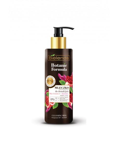 BOTANIC FORMULA Olej z Granatu + Amarantus Mleczko do oczyszczania i demakijażu twarz, oczy - 200 ml