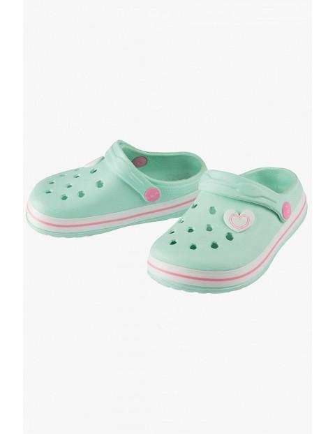 Sandały ogrodowe dla dziewczynki - miętowe