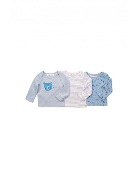 Kaftaniki niemowlęce niebieskie 3 pak