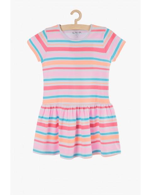 Sukienka na lato- kolorowe fluo paski
