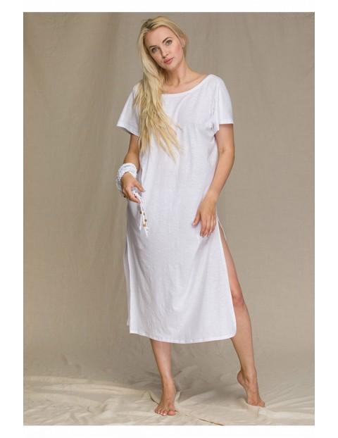 Bawełniana sukienka biała