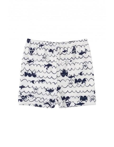 Spodnie niemowlęce  we wzorki - biały