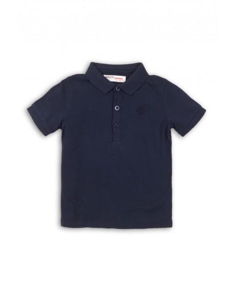 T-shirt dla niemowlaka z kołnierzykiem