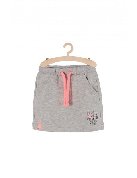Spódnica dzianinowa szara z kotkiem