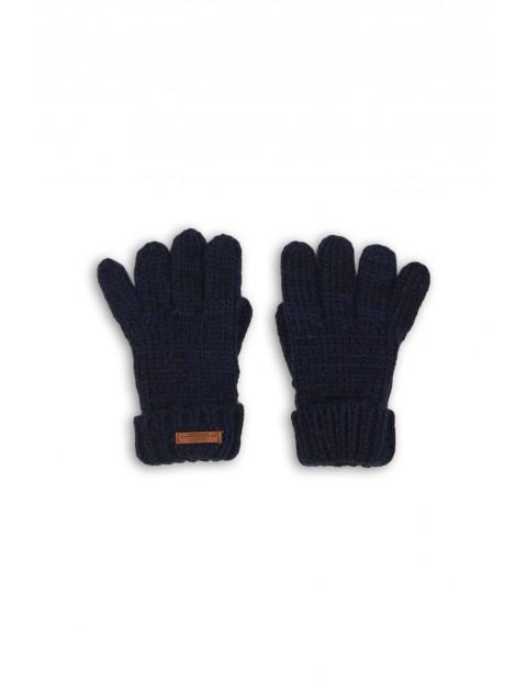 Rękawiczki chłopięce czarne