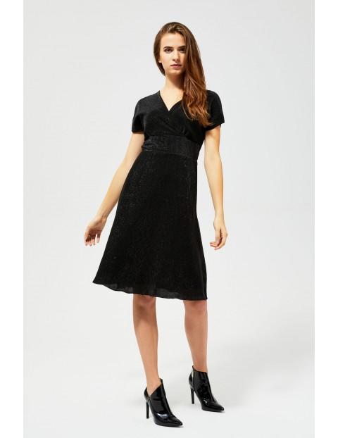 Sukienka połyskująca czarna