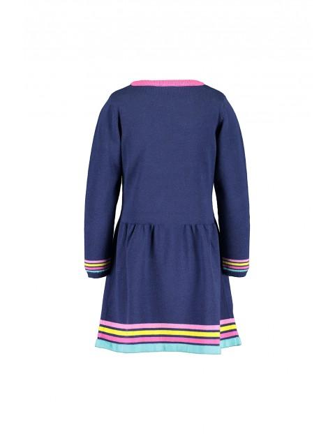 Sukienka dziewczęca bawełniana granatowa