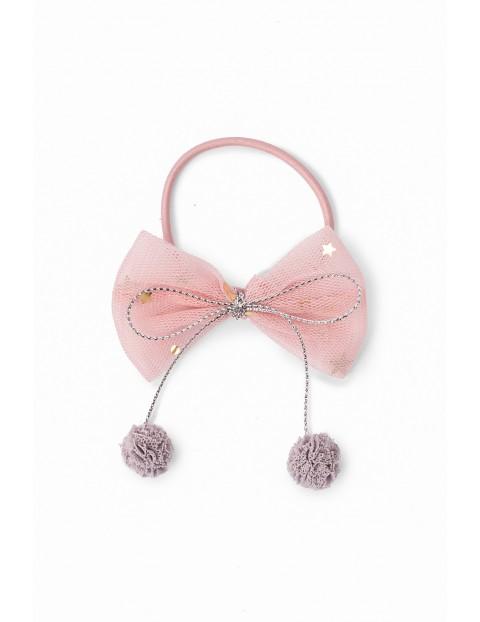 Gumka do włosów dla dziewczynki w kształcie kokardki - różowa