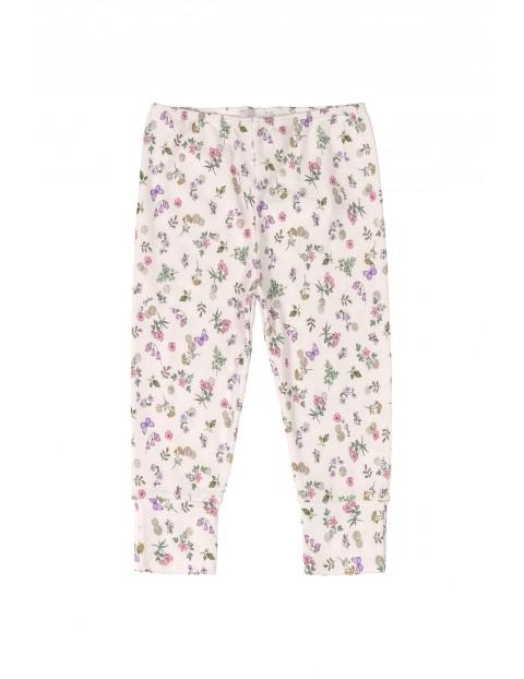 Spodnie dziecięce w kwiatki