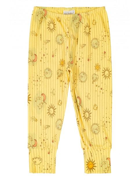 Spodnie niemowlęce żółte- 100% bawełna