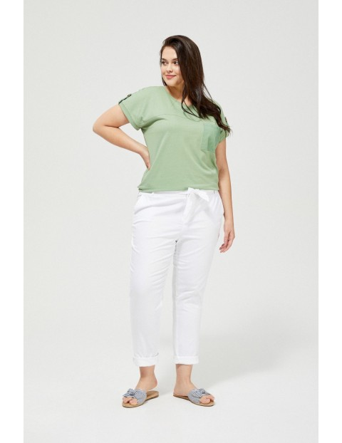 Damskie spodnie typu chinos białe